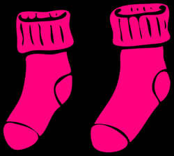 Pink Sock Clip Art at Clker.com - vector clip art online, royalty ...