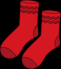 Red Pair of Socks Clip Art - Red Pair of Socks Image