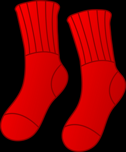 Pair of Red Socks - Free Clip Art