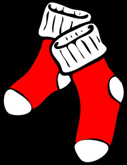 Red Socks Clip Art at Clker.com - vector clip art online, royalty ...