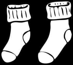 Best Photos of Sock Outline Template - Pair of Socks Clip Art, Socks ...