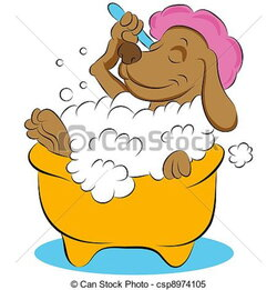 spa clipart puppy