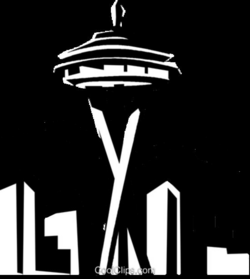 seattle vector drawing