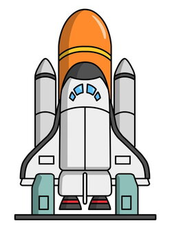 spaceship clipart space technology