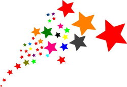 start clipart colourful star