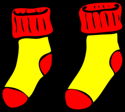 Clip Art Yellow Socks - Encode clipart to Base64