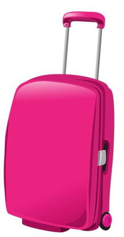 suitcase clipart girly