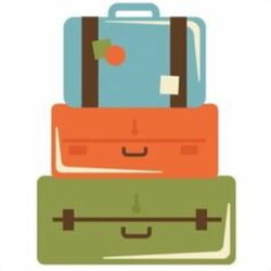 suitcase clipart stack