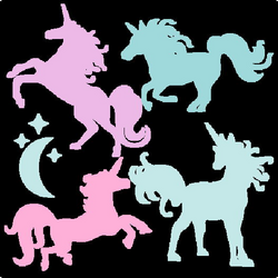 Miss Kate Cutables freebie of the day (3/26/15). Unicorn Silhouette ...