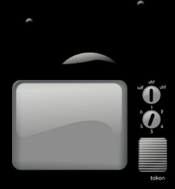 Old Television clip art - vector clip art online, royalty free & pu ...