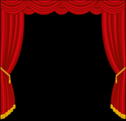 Transparent Red Curtains Decor PNG Clipart | Gallery Yopricevill ...