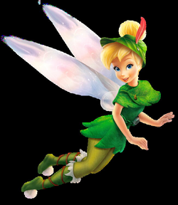 transparent tinkerbell white background