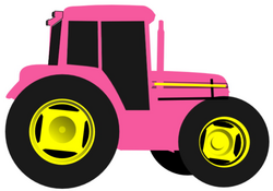 Tractor Clipart Pink Tractor Picture 1719365 Tractor Clipart Pink