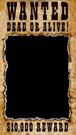 wanted transparent poster