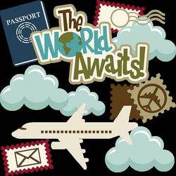 The World Awaits! SVG cutting files for scrapbooking travel svg ...