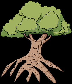 tree with roots vector png