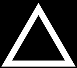 triangle clipart thick