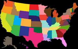 MultiColored United States Map Icons PNG - Free PNG and Icons Downloads