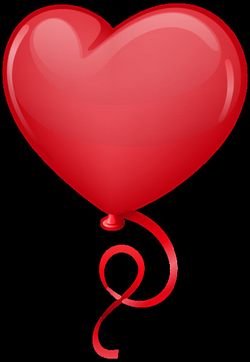 Red Heart Balloon Clip Art PNG Image | Valentines clip | Pinterest ...
