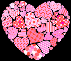 Valentines Day Heart of Hearts PNG Clipart Picture | Gallery ...