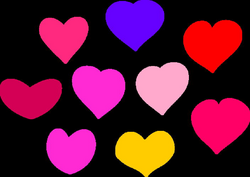 Bundle Of Hearts Clip Art at Clker.com - vector clip art online ...