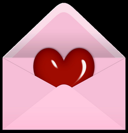 Pink Valentine Letter with Red Heart PNG Clipart Picture | Gallery ...