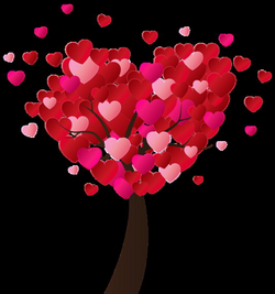 Valentine's Day Heart Tree PNG Clip-Art Image | валентинки ...