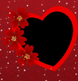 Valentines Day Heart Frame PNG Photo | PNG Arts