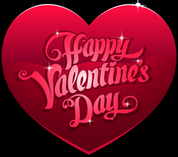 Happy Valentine's Day Heart PNG Clip Art Image | Gallery ...
