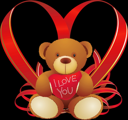 Red Heart with Teddy Bear PNG Clipart | Gallery Yopriceville - High ...