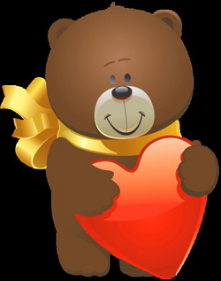 valentines teddy bear png
