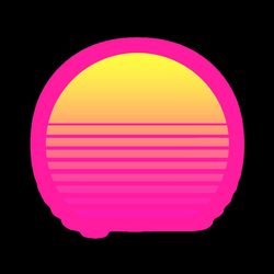 RetroWave Sun with Alpha background Vaporwave png #43645 - Free ...