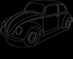 volkswagon drawing outline