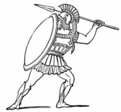 warrior clipart soldier athenian