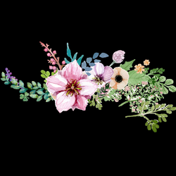 Watercolor Flower Borderround Png - peoplepng.com