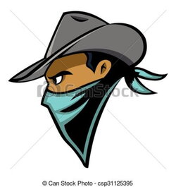 western clipart face