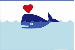 whale clipart happy