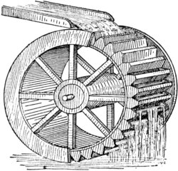 wheels clipart water mill