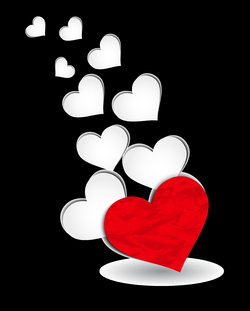 Red and White Hearts Decoration PNG Clipart Picture | Love / Hearts ...