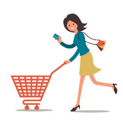 Shopping Woman | Clipart | The Arts | Image | PBS LearningMedia