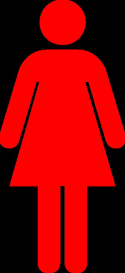 Red Woman Clip Art at Clker.com - vector clip art online, royalty ...