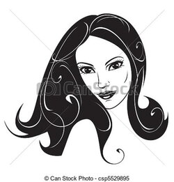 woman clipart abstract