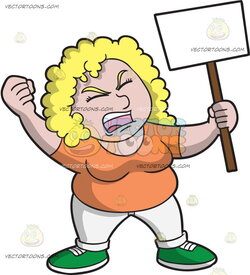 woman clipart protest