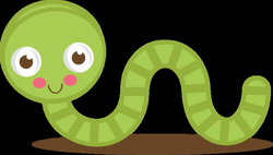 Cute Green Worm SVG cut files for scrapbooking worm svg file worm ...