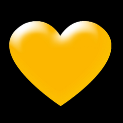 3d yellow heart png transparent background image – Download Png