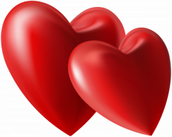 Two Hearts PNG Clip Art Image | Gallery Yopriceville - High-Quality ...