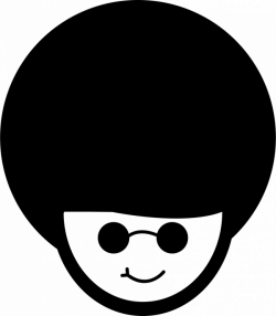 Man With Afro Hair Style Svg Png Icon Free Download (#35849 ...