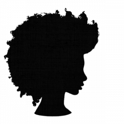 Afro Silhouette SVG Clip Art Natural Nappy Hair PNG Files African ...