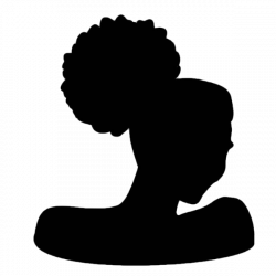 Afro Puff Silhouette SVG Clip Art African Woman Natural Curly Hair ...