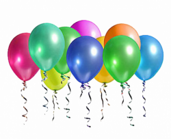 Ten Party Balloons transparent image